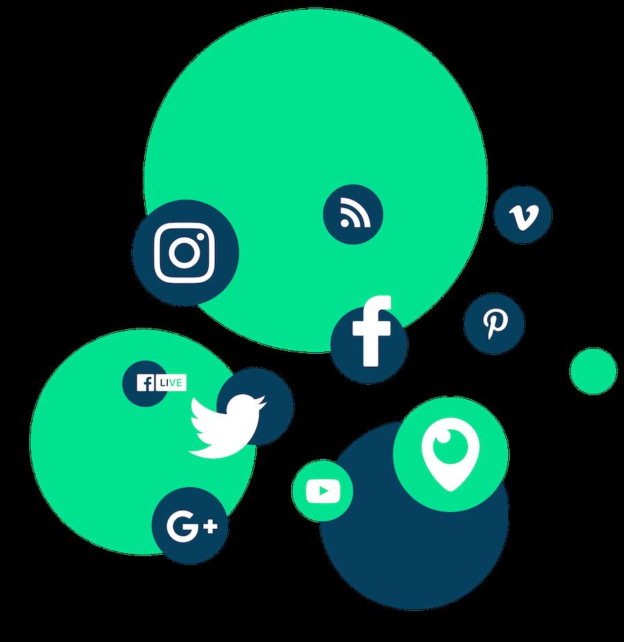 Linkedin Instagram FaceBook Twitter Pinterest Snapchat