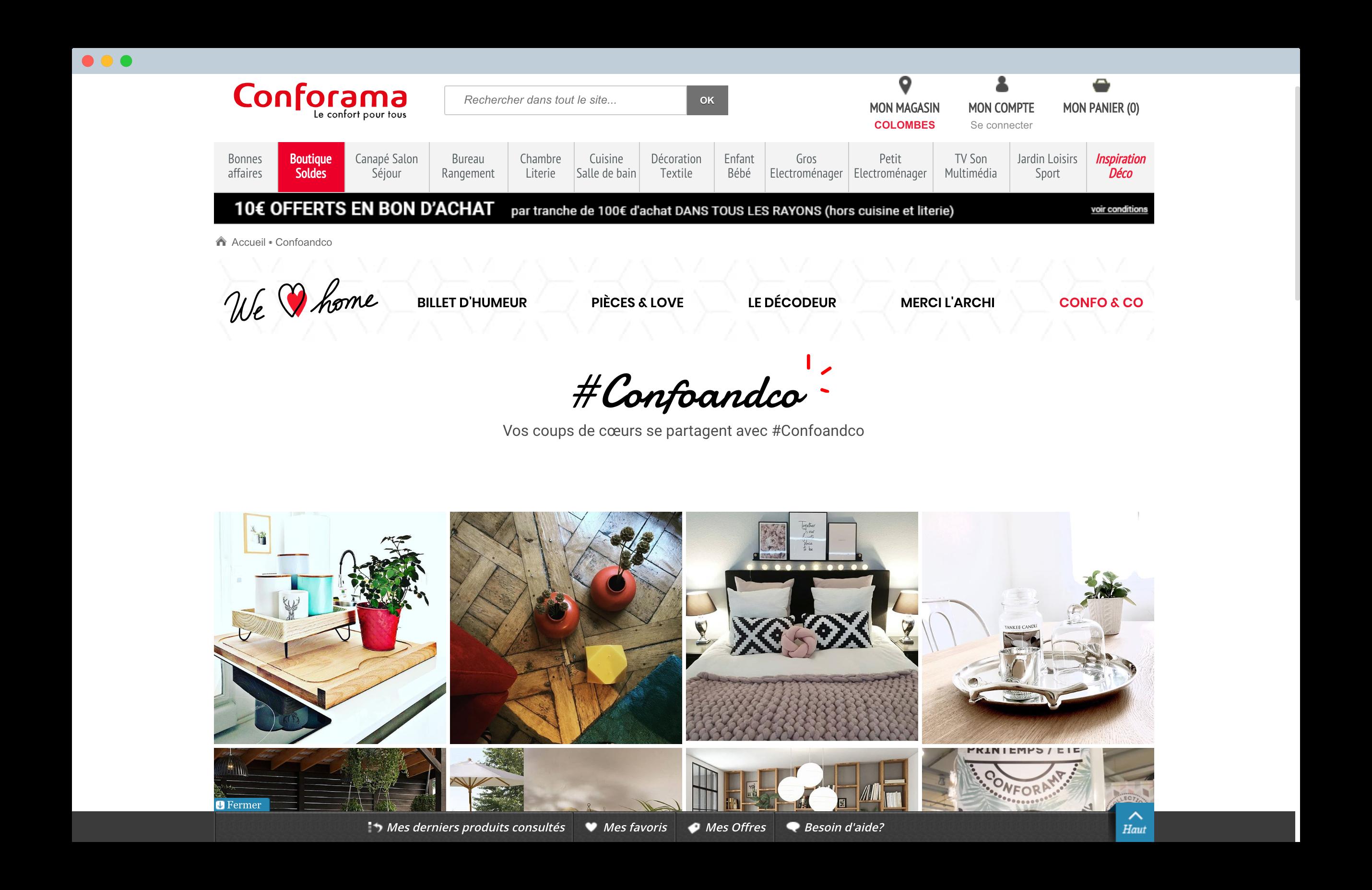 social wall webcast conforama