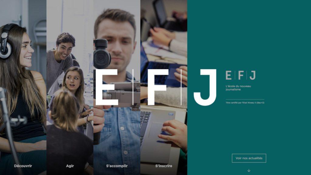 social wall realisé pour l EFJ