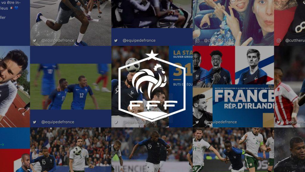 social wall realisé pour la FFF