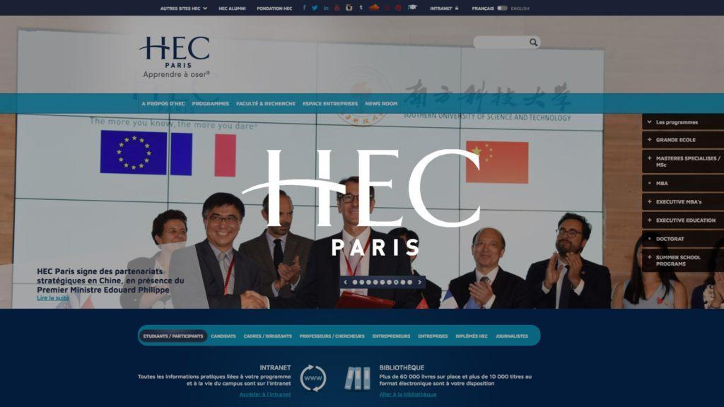 social wall realisé pour HEC