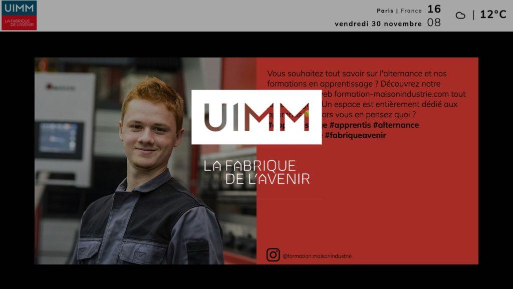social wall realisé pour UIMM