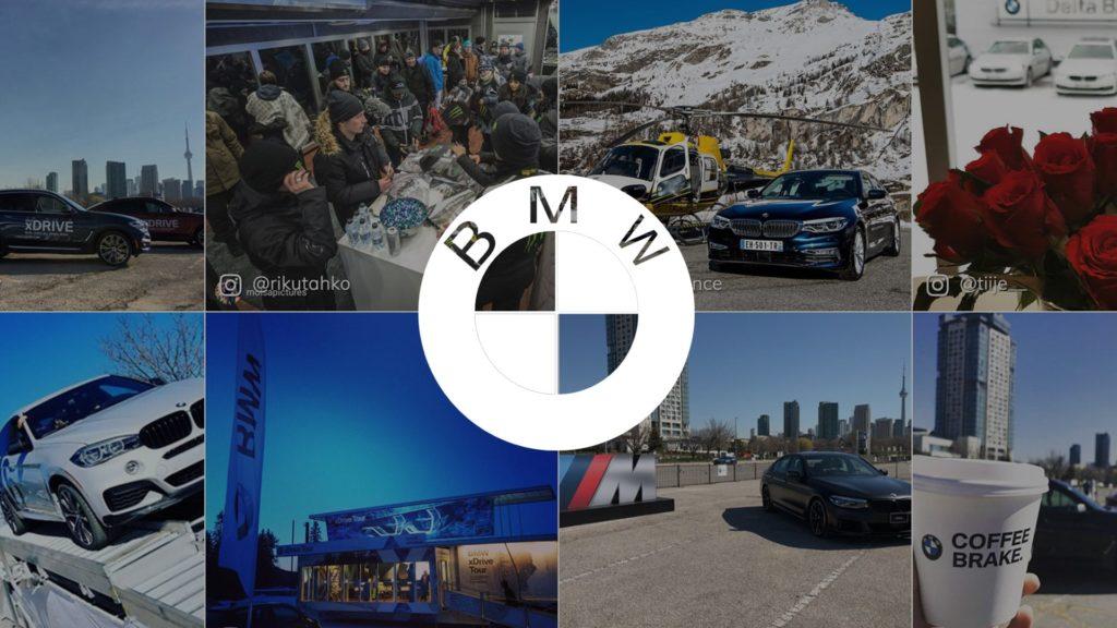 social wall realisé pour BMW