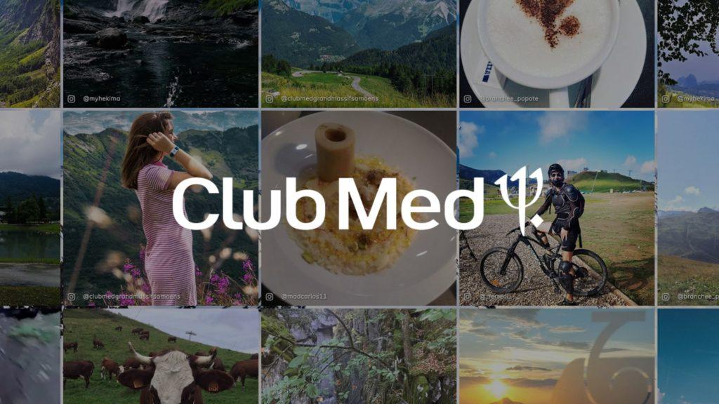 social wall realisé pour le Club Med