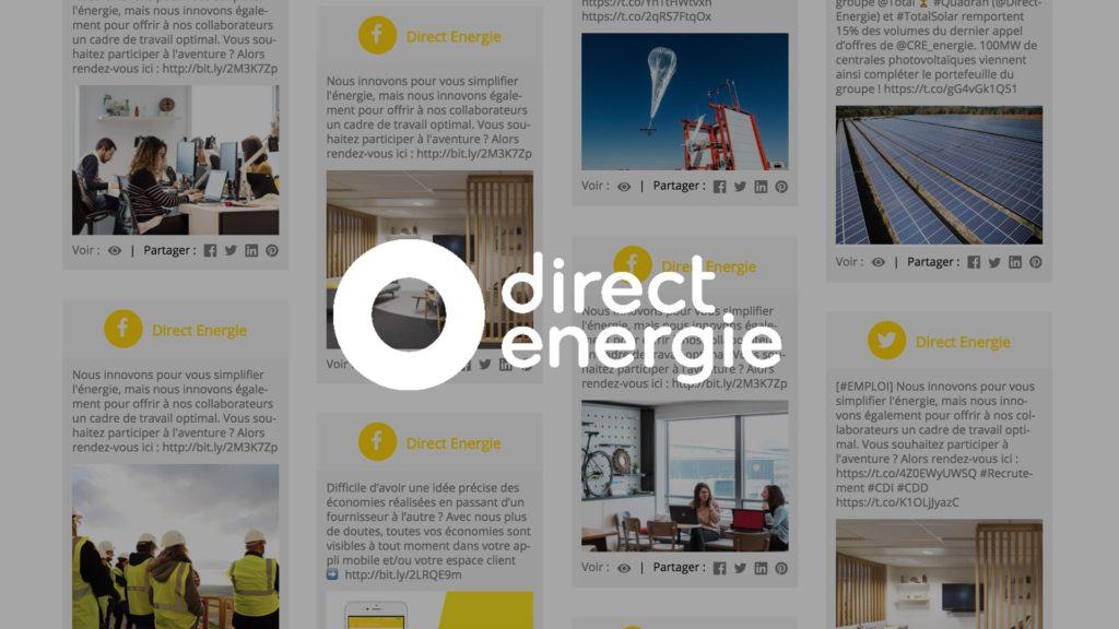 social wall realisé pour direct energie