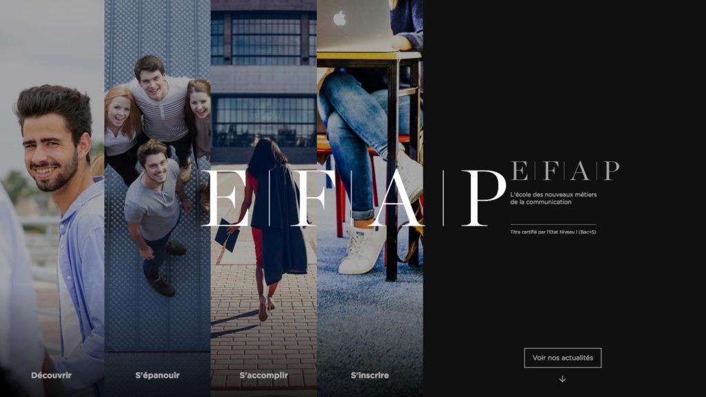 social wall realisé pour l EFAP
