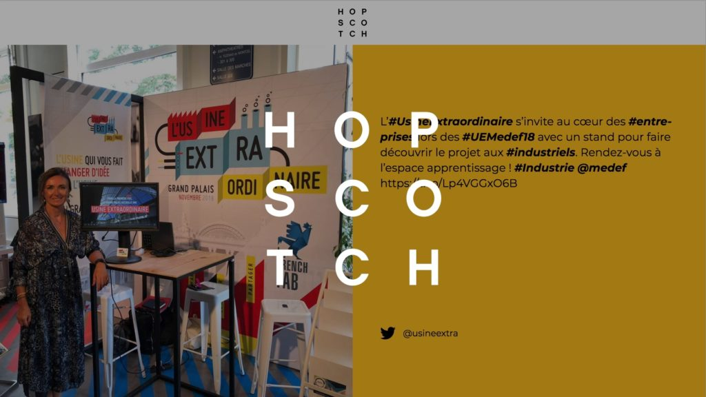 social wall realisé pour Hopscotch