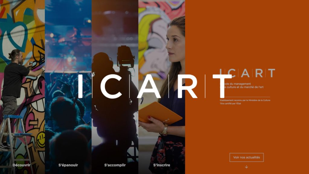 social wall realisé pour ICART
