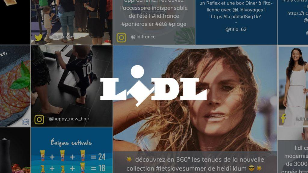 social wall realisé pour Lidl