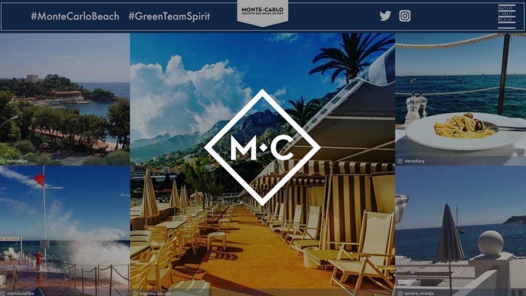 social wall realisé pour Le Monte Carlo Beach
