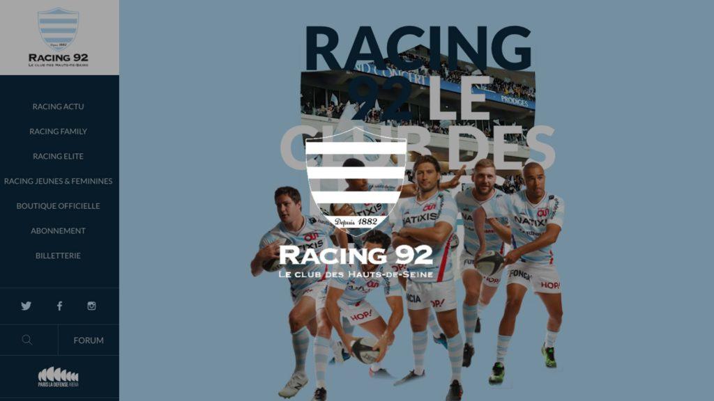 social wall realisé pour le Racing 92
