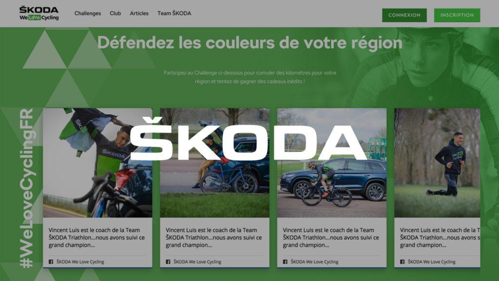 social wall realisé pour Skoda