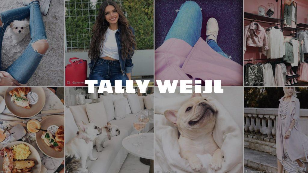social wall realisé pour tally weijl