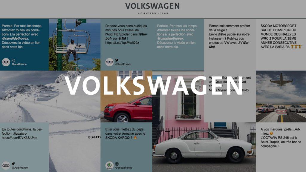 social wall realisé pour volkswagen