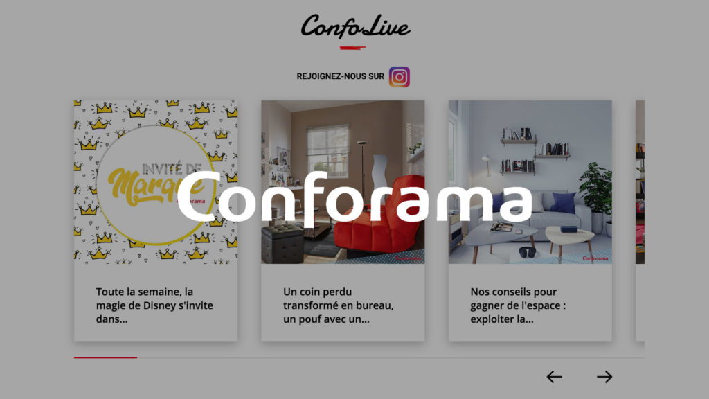 social wall realisé pour Conforama
